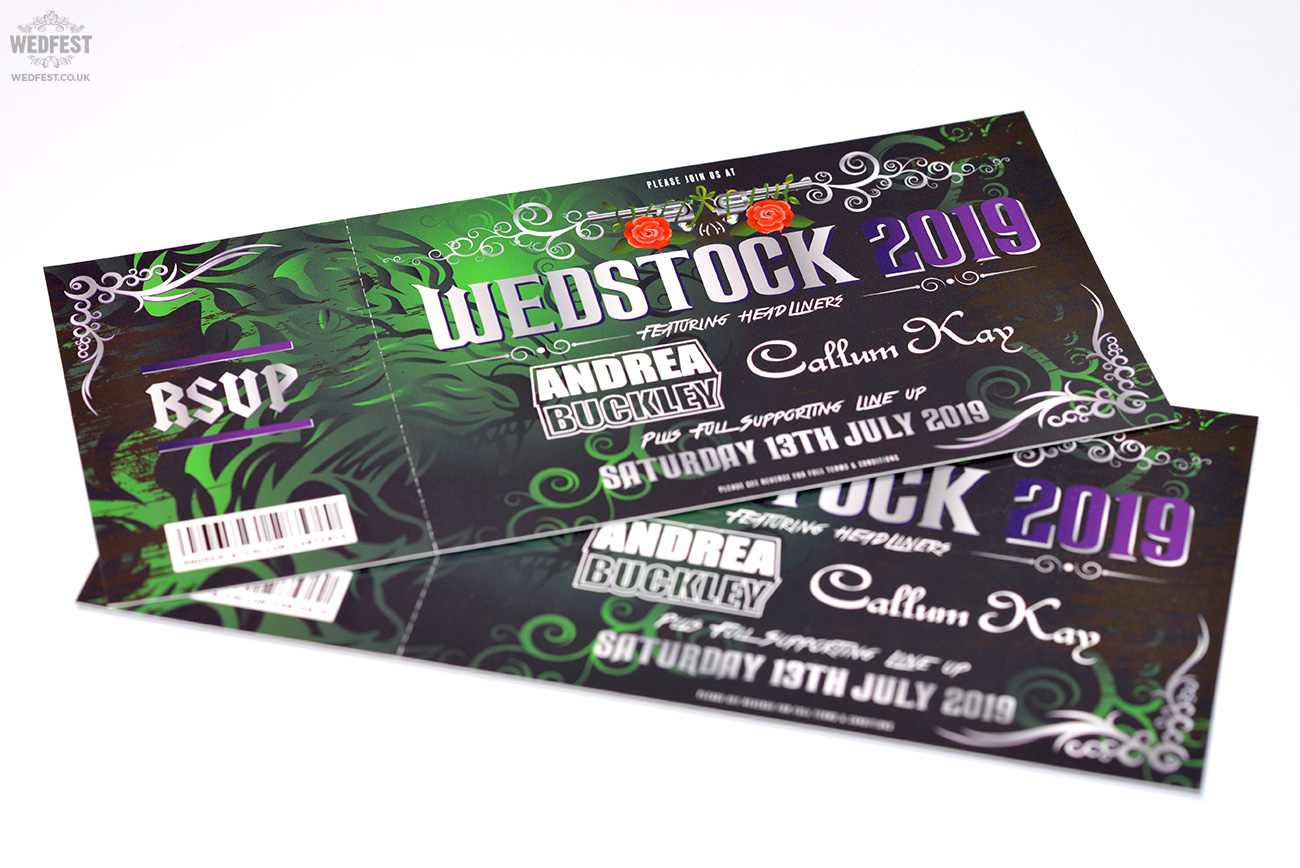 wedstock wedding invites