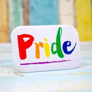 gay pride badge