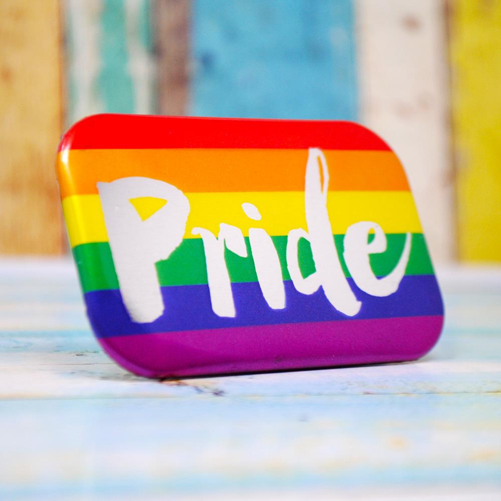 gay pride rainbow flag badges