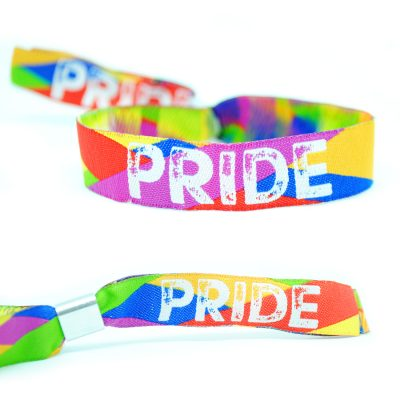 gay pride rainbow flag wristbands