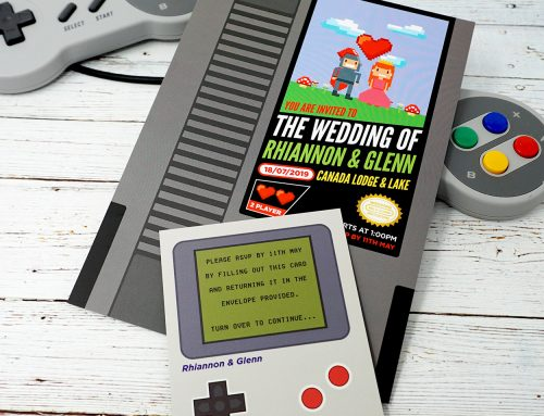 Gamers Nintendo Video Game Lovers Wedding Invitations