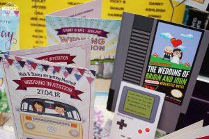 gamers geeks vw camper wedding invites