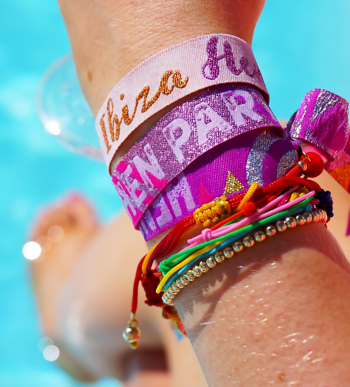 ibiza hen party festival wristbands