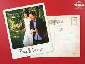 same sex marriage wedding polaroid photo thank you cards