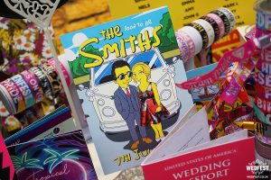 simpsons themed wedding invitations