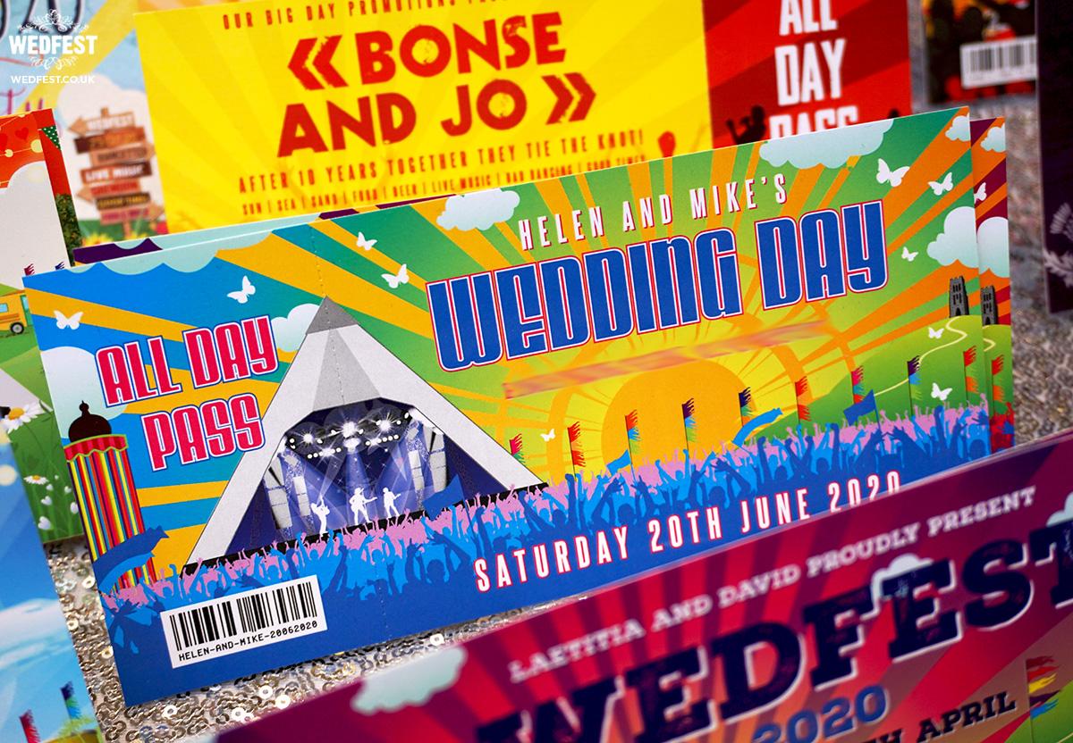 wedfest festival themed wedding invitations