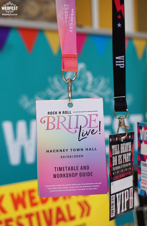 wedfest lanyard programmes rock n roll bride live