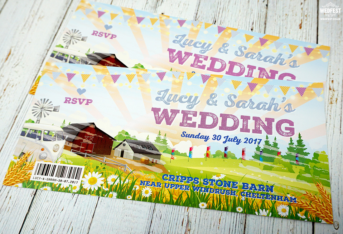 wedfest same sex marriage festival wedding invitations