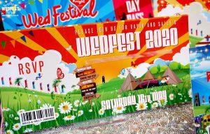 wedfest wedding invite