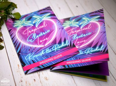 edm dance music festival wedding-stationery invitations