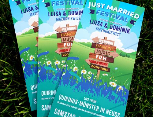 Festival Signpost Wedding Invitations
