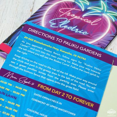 hawaii dance music wedding stationery invitations