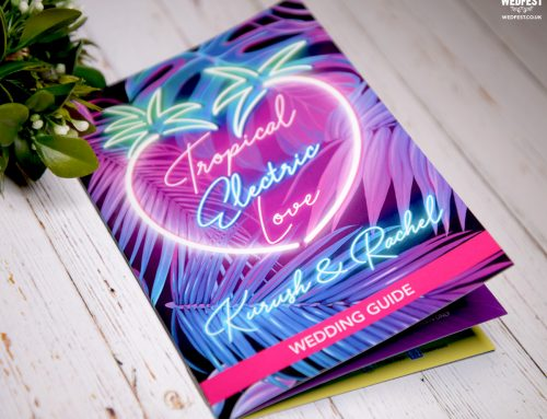 Tropical Electric Love – Neon Sign Themed Hawaiian Wedding Stationery