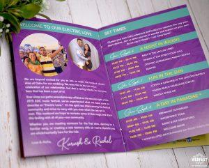 wedding information booklet programme program