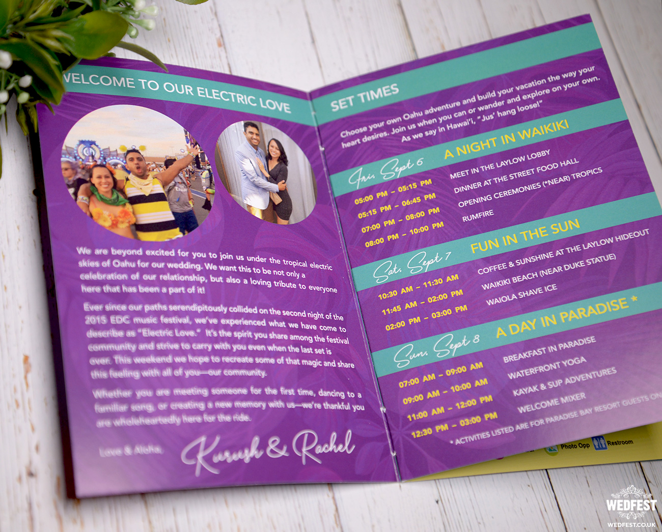 wedding information booklet programme program