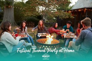 18th festival themed birthday party at home firepit food