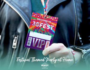 30FEST 30th birthday party festival at home wristband lanyard part favours