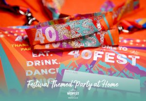 40FEST 40th birthday party festival-at-home-wristband lanyard party favours