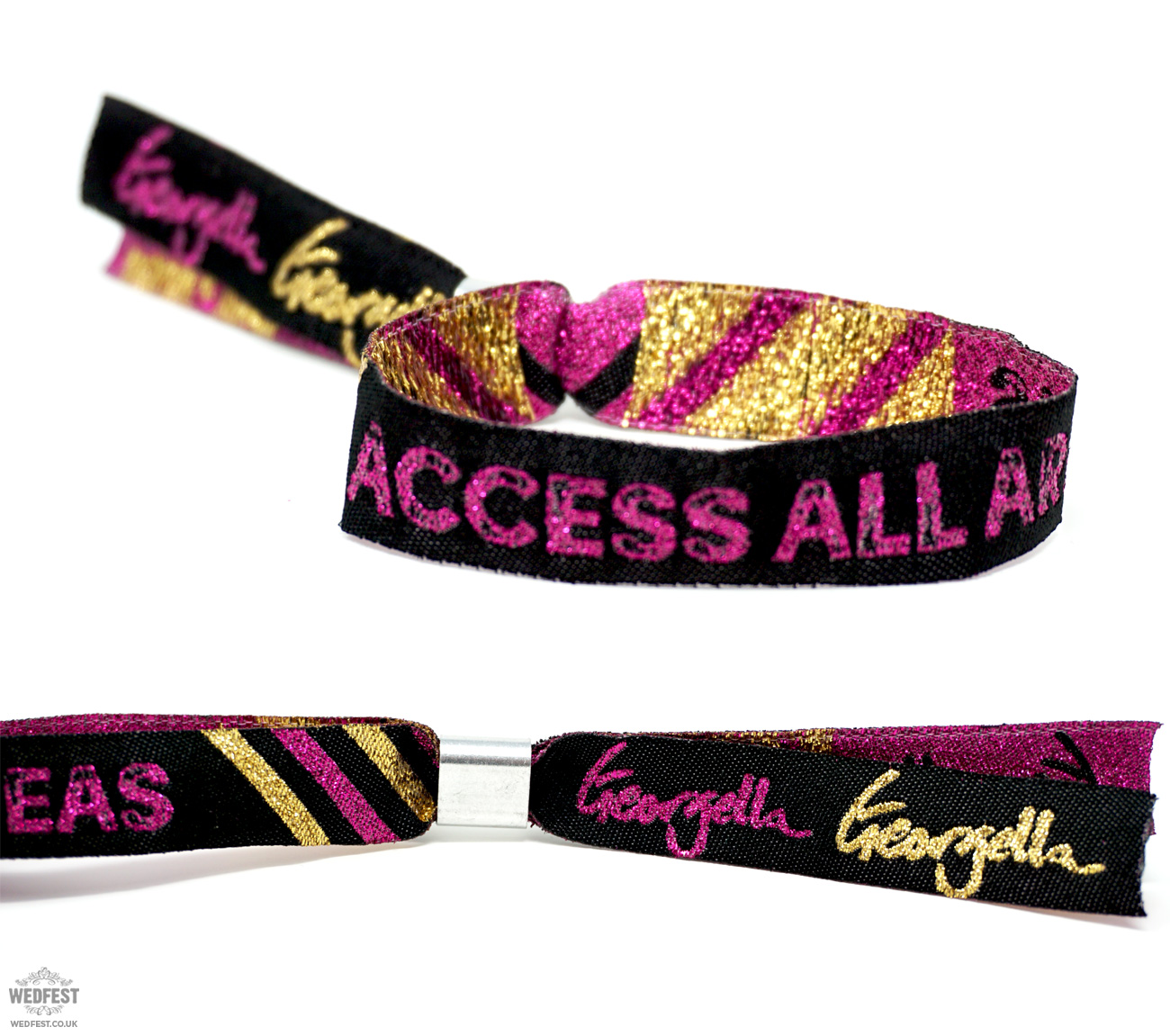 access all areas customised event wristbands