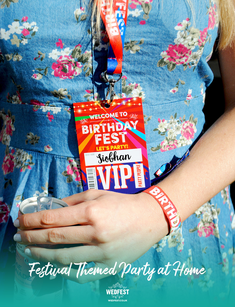 birthdayfest festival birthday party at home vip pass lanyards wristbands