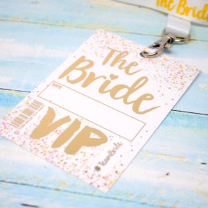 bride to be hen party vip lanyard