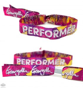 corporate festival performer wristbands