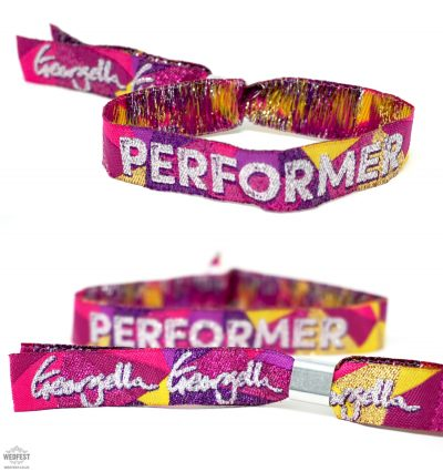 corporate festival performer wristbands