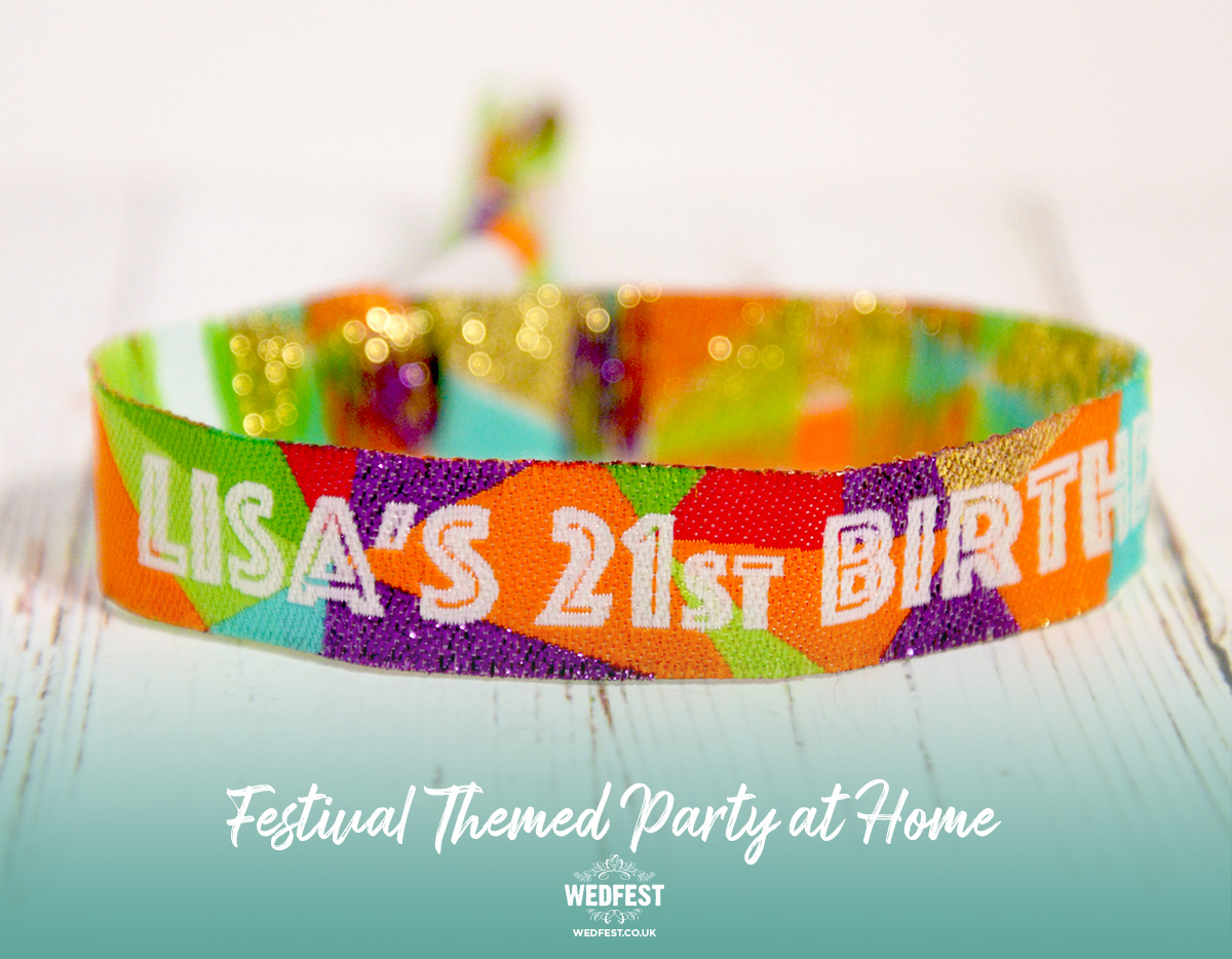 customised festival birthday party wristbands