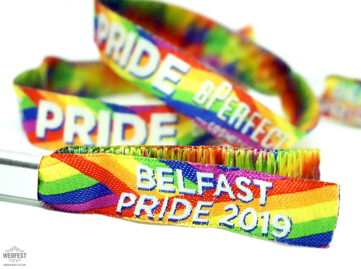 customised pride event wristbands