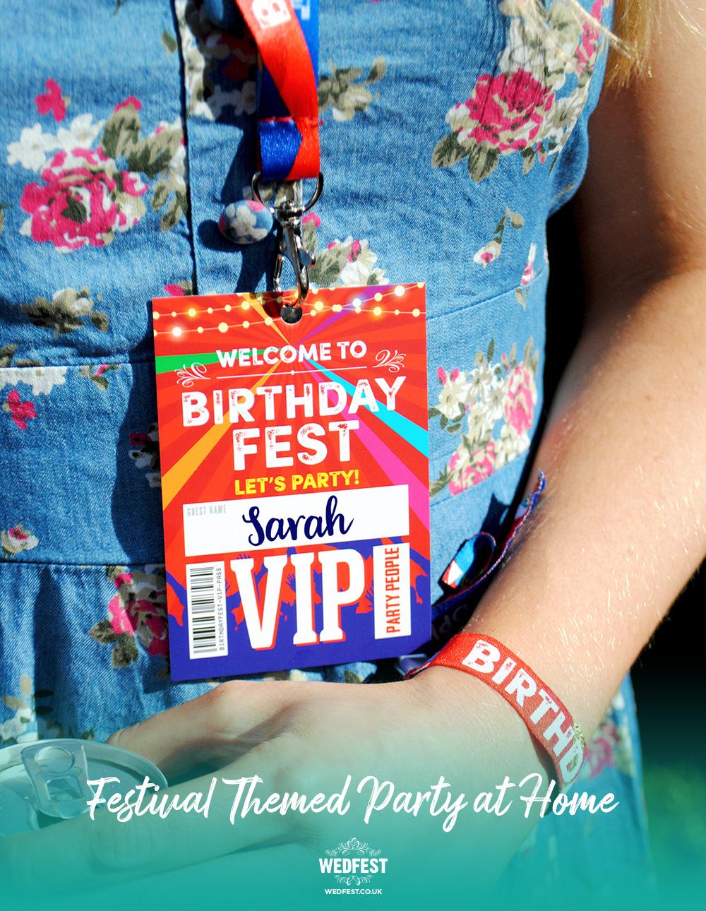 festival birthday party vip lanyards