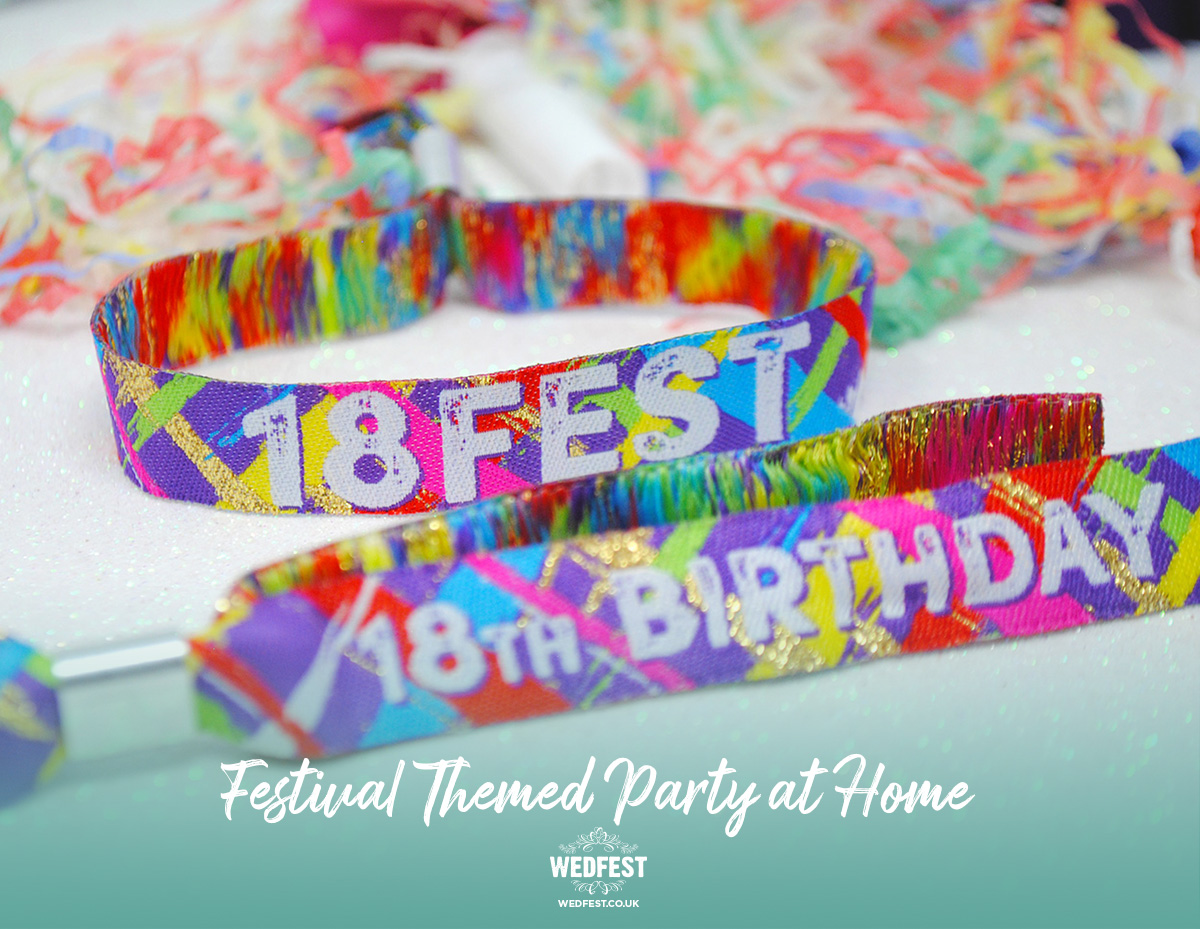 festival birthday party wristbands