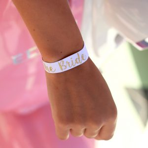 festival bride to be wristband favour