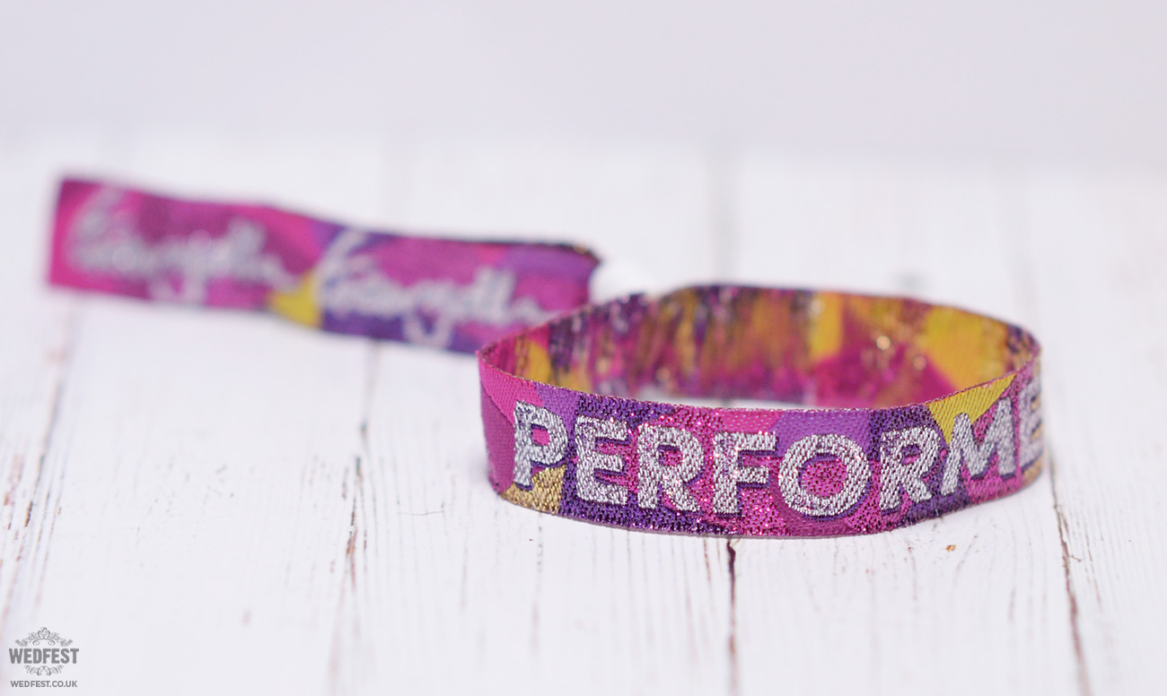 festival performer wristbands