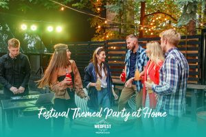 festival themed birthday party at home dancing music dj