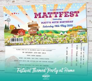 festival themed birthday party at home invitations