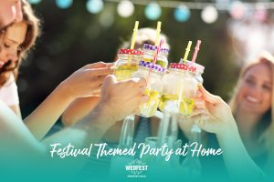 festival themed party at home food and drinks ideas