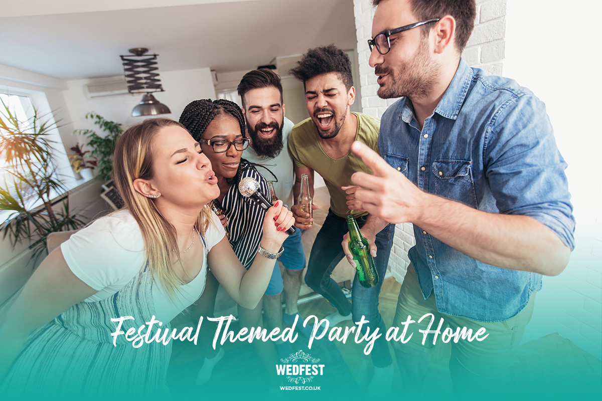 festival themed party at home karaoke music party dj
