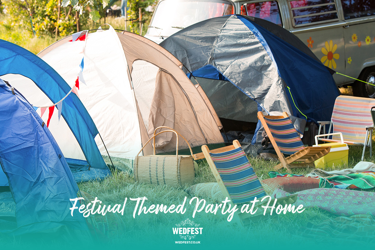 festival themed party at home tents decorations