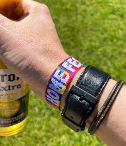 home garden party festival style wristbands