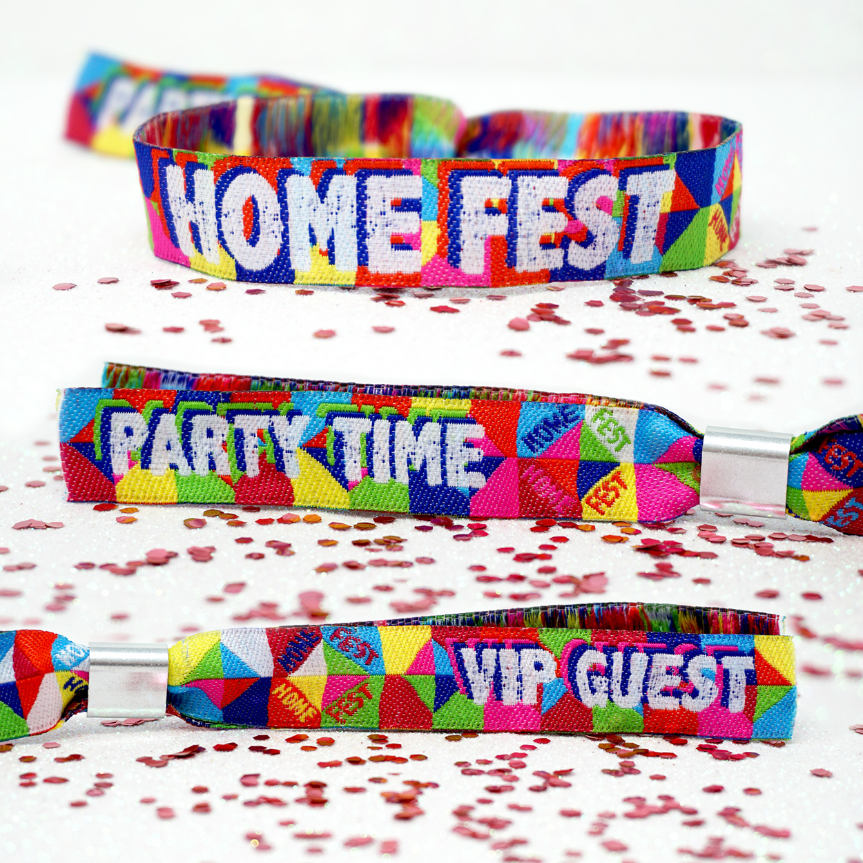 homefest festival party wristbands