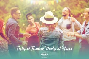homefest festival themed birthday party at home