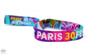 personalised birthday party festival wristbands