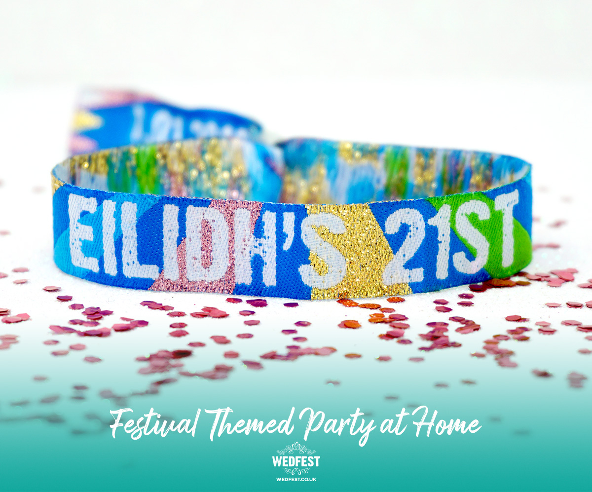 personalised customised 21st birthday party festival wristbands