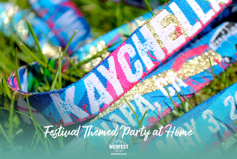 personalised festival birthday party wristbands