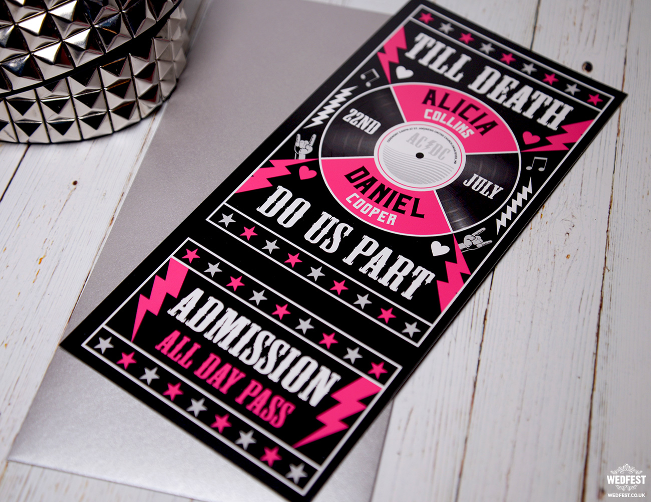 till death do us part wedding invitations
