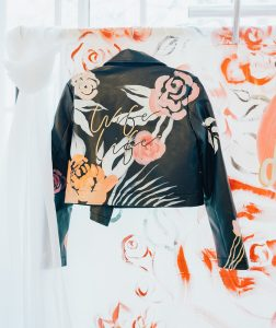 bee davies illustration hand painted leather jackets