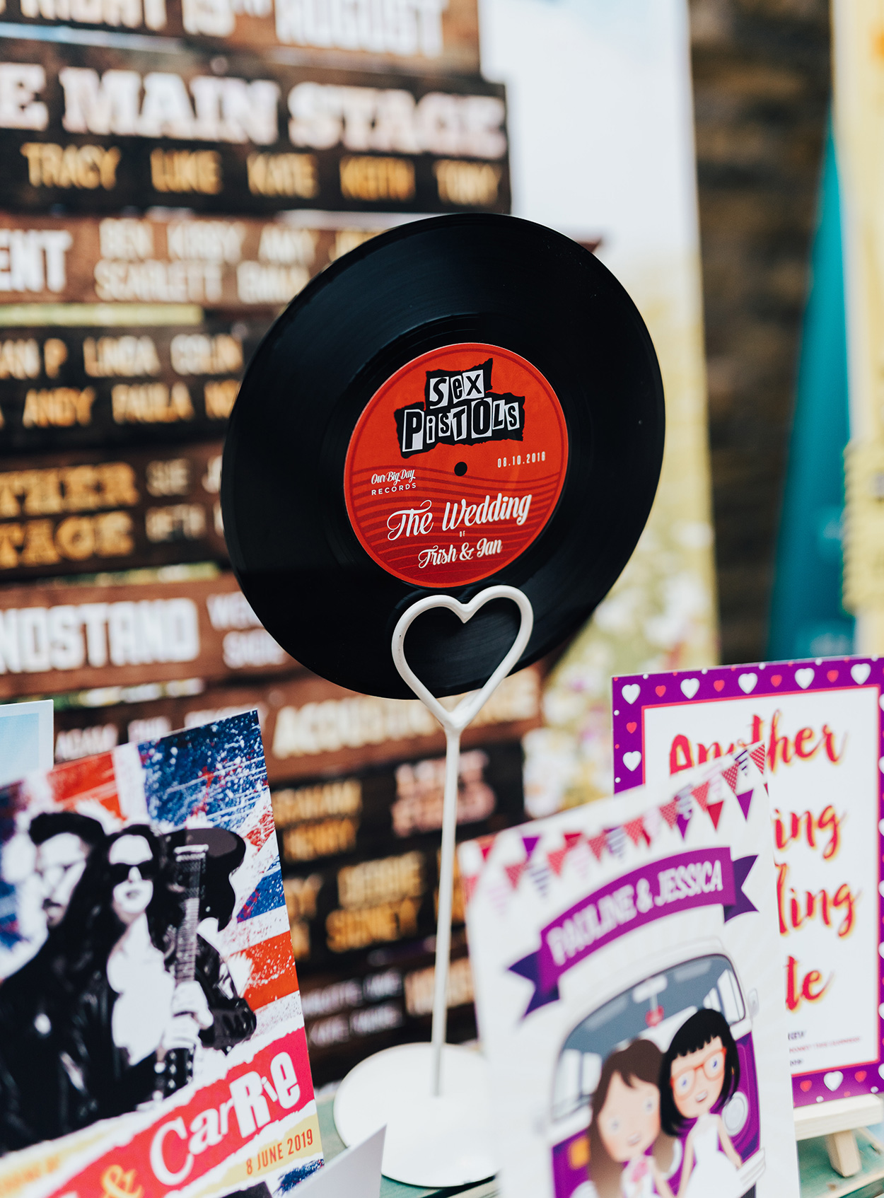 custom vinyl records for weddings