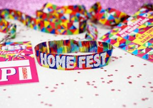 homefest festival at home wristbands lanyards accessories