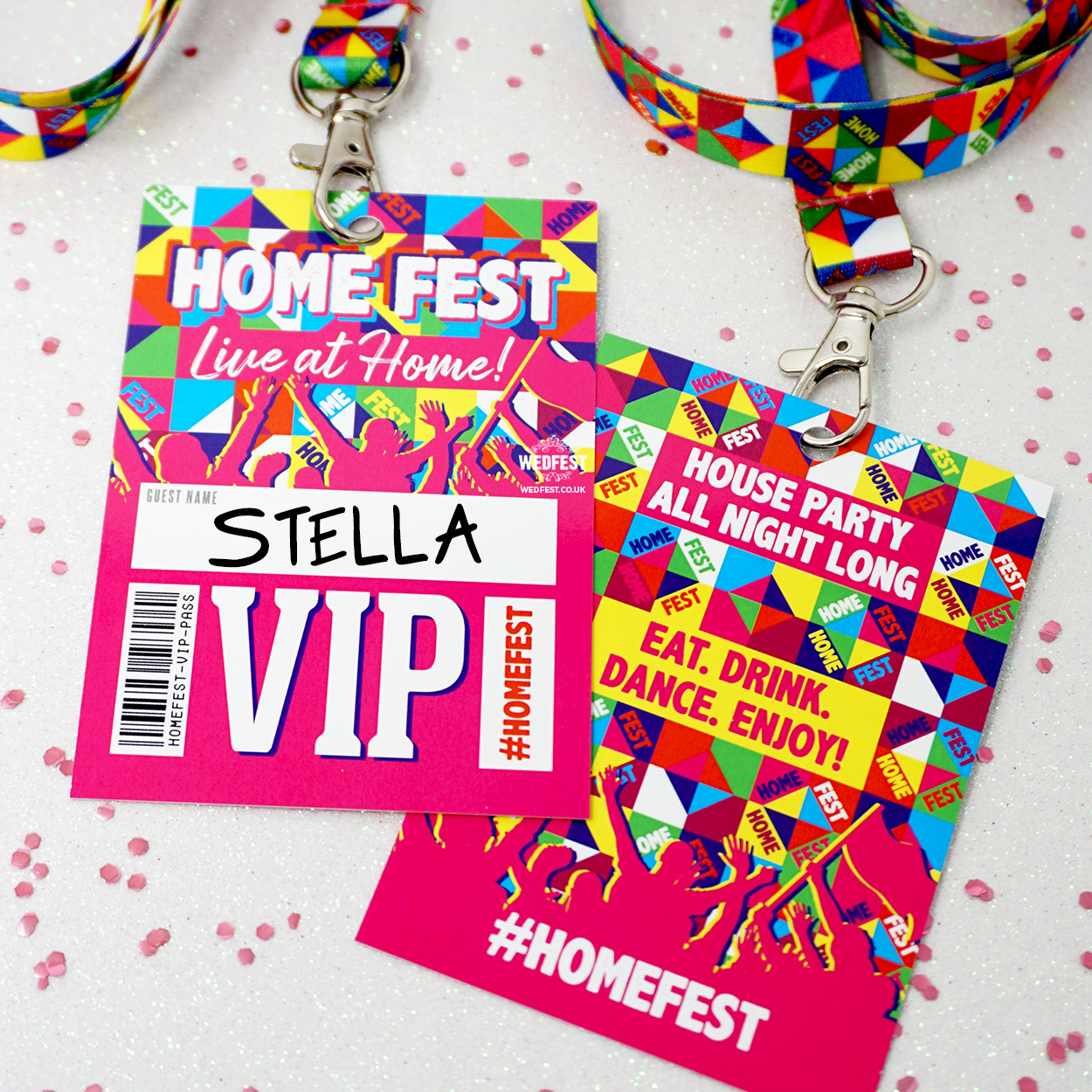 homefest festival house party lanyards