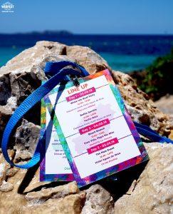 ibiza wedding stationery program lanyard